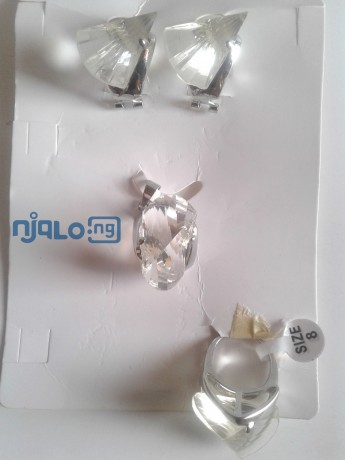 women-rhinestones-claw-hook-earrings-with-pendant-and-ring-big-1