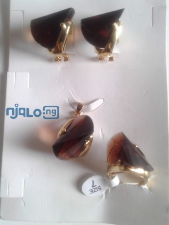 women-rhinestones-claw-hook-earrings-with-pendant-and-ring-big-2