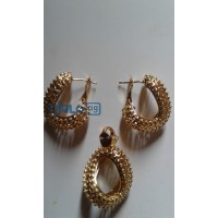 women-rhinestones-claw-hook-earrings-with-pendant-small-0