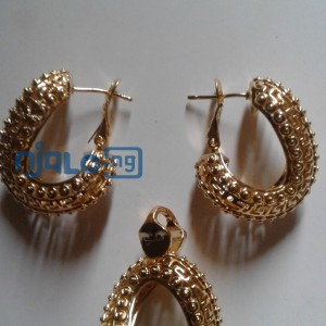 Women Rhinestones claw hook earrings with pendant