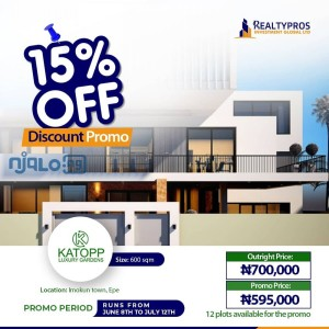 Lands for sale at 15% discount promo