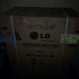 Washing machine. Brand New. 2ft by 5ft. LG product. For you Laundry services.