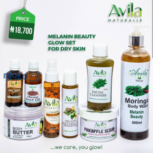 Avilanaturalle Melanin Beauty Glow Set For Dry Skin