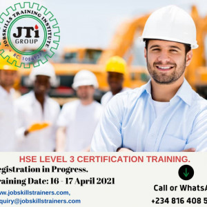 HEALTH, SAFETY AND ENVIRONMENT TRAINING (LEVEL 3 OF 3)