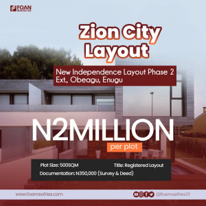 Land for sale in Enugu | Independence layout phase 2 extension
