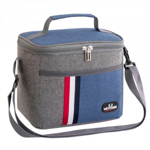 Compact, Insulated Lunch Bag - Blue