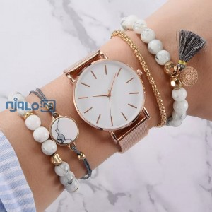 5pcs set  women's Luxury wrist watch .  Magnetic Starry sky female clock Quartz wristwatch