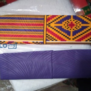 Foreign materials (Ghana design) and Local design materials