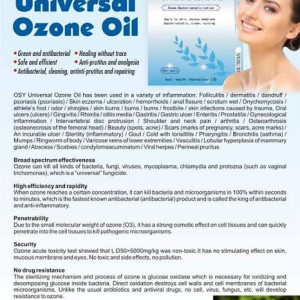 """AUSLI """"OSY"""" UNIVERSAL OZONE OIL FOR INFECTIONS"""